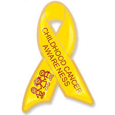 Small Picture Yellow Childhood Cancer Ribbon