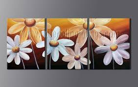 abstract flower paintings on canvas painting 2008 3 panels modern oil