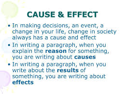 this lesson plan has been created for community college students cause effect in making decisions an event a change in your life