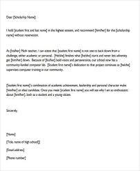 Scholarship Recommendation Letter Sample 2018 Letter Recommendation