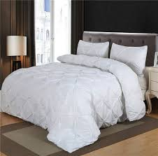 white queen quilt set. Beautiful Queen Luxurious Comforter Set White Black Grey Pinch Pleat Queen Size Blanket  Quilt With Pillow Case Bedding Setsin Sets From Home U0026 Garden On  For O
