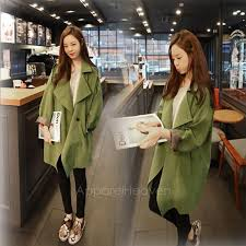 fashion army green military women oversize trench rain coat jacket parka blazer ap by dennishawk dhgate com