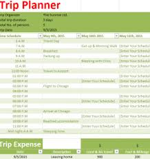 trip planner templates holiday trip planner my excel templates