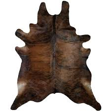 s brindle cowhide ottoman
