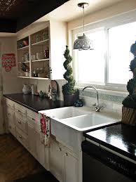 country kitchen dark stained dark butcher block countertops outstanding how to clean granite countertops