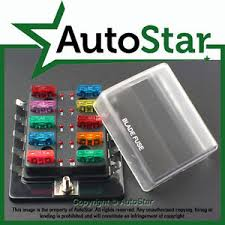 10 way blade fuse box positive bus in 12v led warning kit car boat image is loading 10 way blade fuse box positive bus in