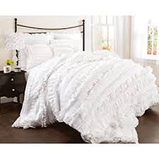 Lush Decor Belle Bedding Amazon Lush Decor Belle 100 Piece Comforter Set King White 2