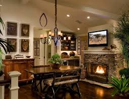 orange county stone fireplace surround with bar stools and counter dining room molding finishes with fireplace finishes stone