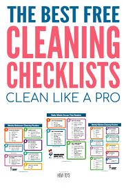Kitchen Cleaning Checklist Printable Kitchen Appliances