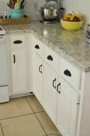 kitchen cabinets with cup pulls black pull within cabinet remodel 18