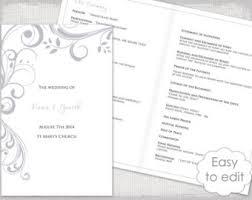 Catholic Wedding Ceremony Program Templates Catholic Wedding Program Template Sangria Scroll Etsy