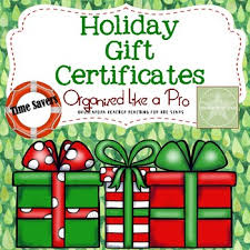 Holiday Gift Certificates Holiday Gift Certificates For Students