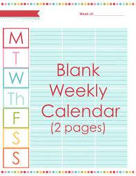 Blank Weekly Calendar Blank Weekly Calendar A Bowl Full Of Lemons