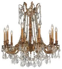 worldwide lighting w83308fg28 cl windsor 10 light crystal chandelier