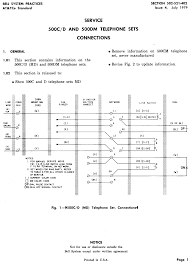western electric products telephones model 500 500c d schematic 500c d table