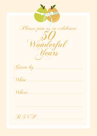 50th Birthday Invitations Templates 50th Birthday Party Invitation Templates Free October 2014