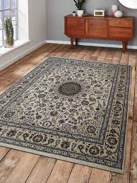 carpets hand knotted persian woolen nain oriental area rug white gold traditional area rugs by get my rugs llc