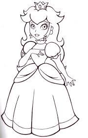 Coloriage Princesse Peach Colorier Dessin Imprimer Dessin