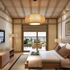 Japanese Lantern Pendant Light Bamboo Lantern Pendant Lamp Retro Japanese Style E27 Chandelier Hanging Light Ceiling Lighting Fixture For Living Room Bedroom Restaurant Cafe