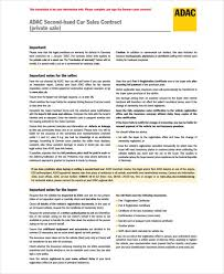 9 Car Selling Contract Examples Pdf Doc Examples