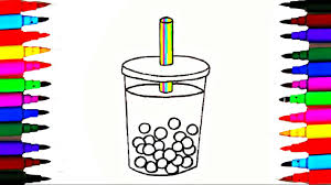 How To Draw And Color Apple Fruit Drinks L Kids Coloring Videos L
