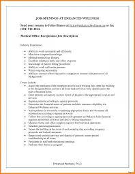 new medical secretary job description and duties resume template fice front desk receptionist resume of inspirational