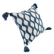 <b>Чехол для подушки</b> с кисточками Traffic, серо-синего <b>цвета</b> ...