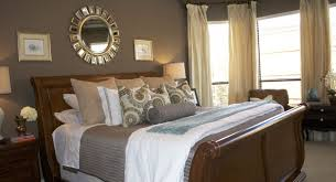 Small Table Lamps Bedroom Bedroom With A Wall One Large Drape Framing The Headboard And Bed