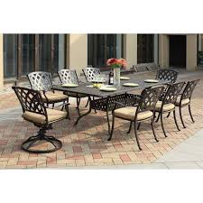 darlee ocean view 9 piece patio dining set in antique bronze piece patio dining set t49