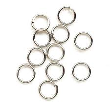 Platina plated nickel Jump rings D triangle ring DIY