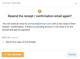 Confirm Of Receipt Sending Confirmation Receipt Emails Corsizio Support