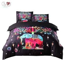 gypsy bedding sets 2 pattern bedding set elephant duvet cover set with 2 pillow shams gypsy
