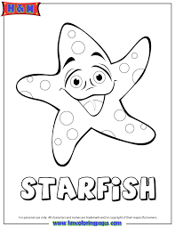 Small Picture Cartoon Starfish Coloring Page H M Coloring Pages