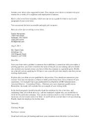 Covering Letter Samples Accounting Finance Cover Letter Samples