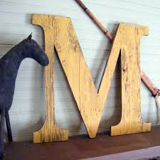 24 extra large letter large wood letters shabby by havenamerica