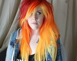 Image result for fire ombre emo hair