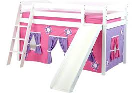 bunk bed with slide and tent. Tent For Loft Bed With Slide Pink Cottage White Bunk And