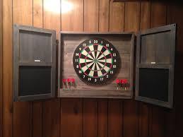 Dart Board Cabinet With Chalkboard Ana White Dartboard Cabinet Diy Projects