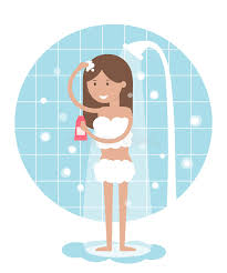 take a shower clipart. Contemporary Take Woman Taking A Shower Showers Clipart Vector Banner Freeuse Download In Take A Shower Clipart O