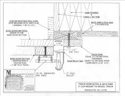 garage door framing detail operator prewire and guide with regard overhead section luxury