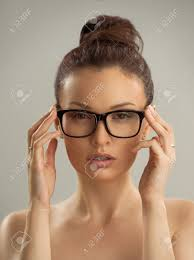 Portrait Of Hot Sexy Naked Woman Wearing Glasses Stock Photo Picture And Royalty Free Image Image