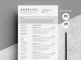 Professional Design Resume Creative Professional Word Resume By Resume Templates On