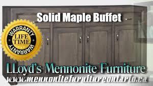 Mennonite Bedroom Furniture Maple Buffet Solid Maple Mennonite Buffet Mennonite Furniture