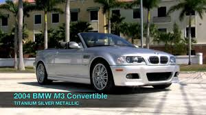 BMW Convertible 2004 bmw m3 coupe for sale : 2004 BMW M3 Convertible Titanium Silver Metallic A2644 - YouTube