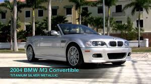Coupe Series bmw 2004 m3 : 2004 BMW M3 Convertible Titanium Silver Metallic A2644 - YouTube