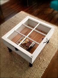 old wood windows window coffee table