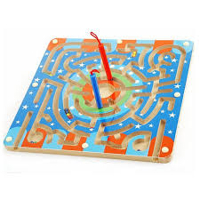 Wooden Game With Marbles Magnetic Wand Wiggles and Worms Marbles Labyrinth Wooden Animal 68