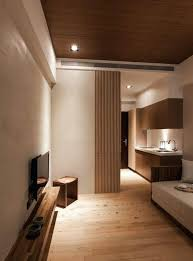 japanese style decor modern small living room with an extensive use of light wood and cream