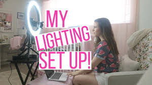 Youtube Set Up Lighting My Lighting Set Up For Youtube Diva Ring Light Review Demo Hayley Paige