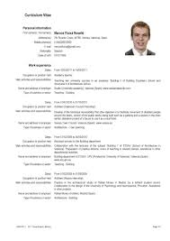 Curriculum Vitae Template Pour In French Resume Gallery Of Resumes